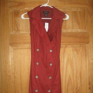 Womens WHBM Sleeveless Fashion Trench Dress